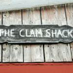 Sign at the Clam Shack in Falmouth, Cape Cod, Massachusetts, USA.