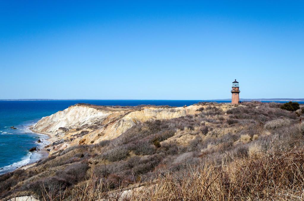 Martha's Vineyard cliffs and Gay Head Lighthouse