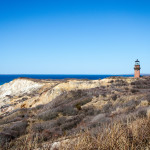 Martha's Vineyard cliffs and Gay Head Lighthouse