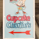 Cupcake Charlie's sign