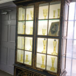 Yellow Glass Cabinet at the Sandwich Glass Museum in Sandwich, Massachusetts, USA.