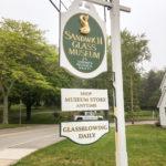Sandwich Glass Museum Sign in Sandwich, Massachusetts, USA.
