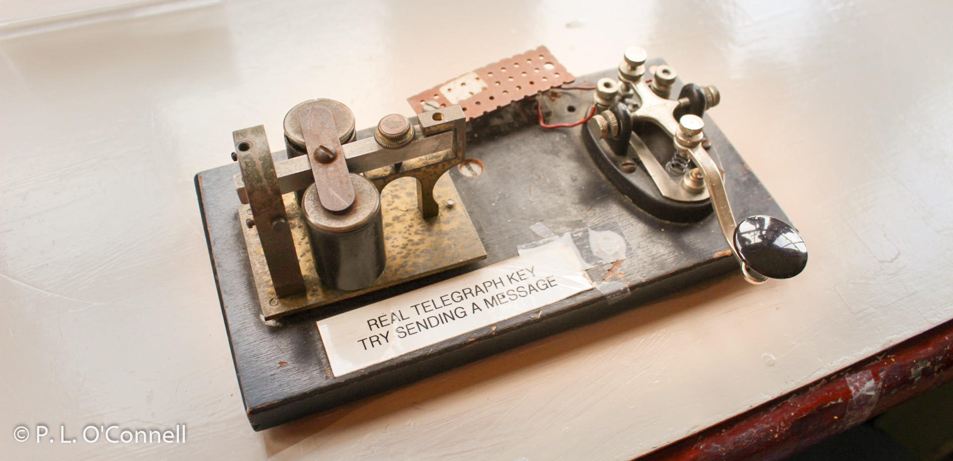 Telegraph key at the Chatham Railroad Museum