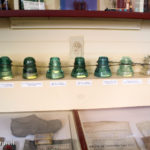Glass Telegraph wire insulators at the Chatham Railroad Museum