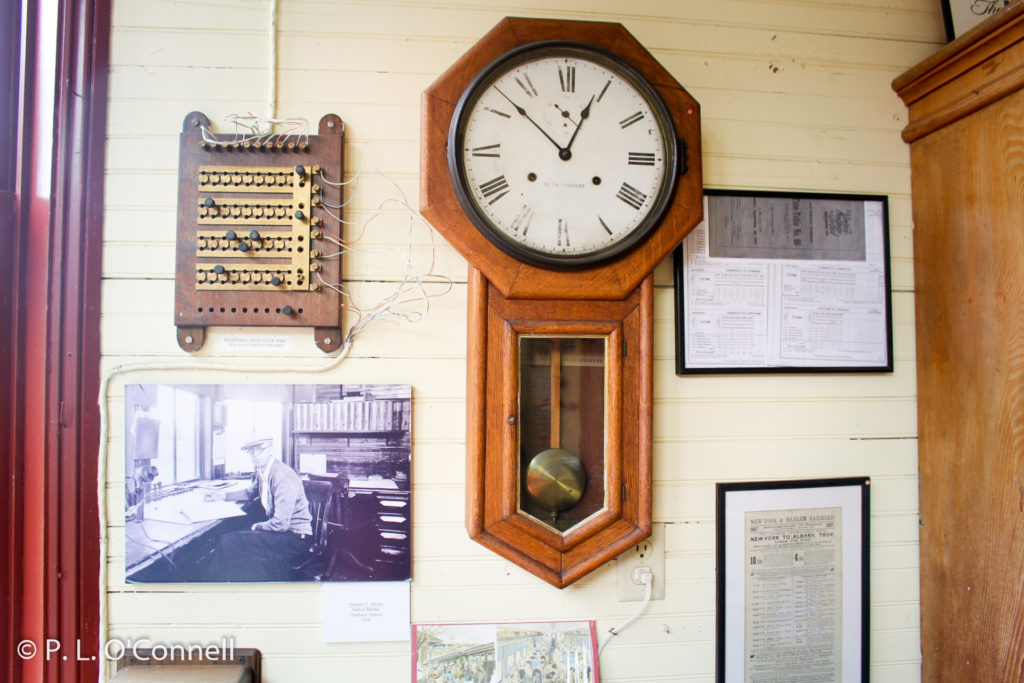 Wind up clock, Chatham Railroad Museum
