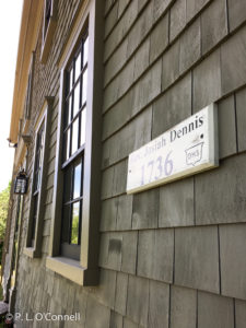 Shingles of the Josiah Dennis Manse Museum on Cape Cod, New England, USA.