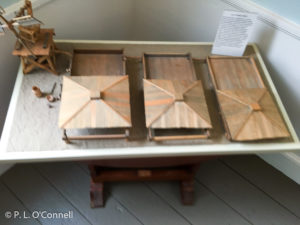 This is a miniature reproduction of the Falmouth Saltworks. It is on display at the Falmouth Museums on the Green.