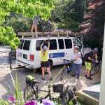 Bicycle Tour Cape Cod unloading bikes