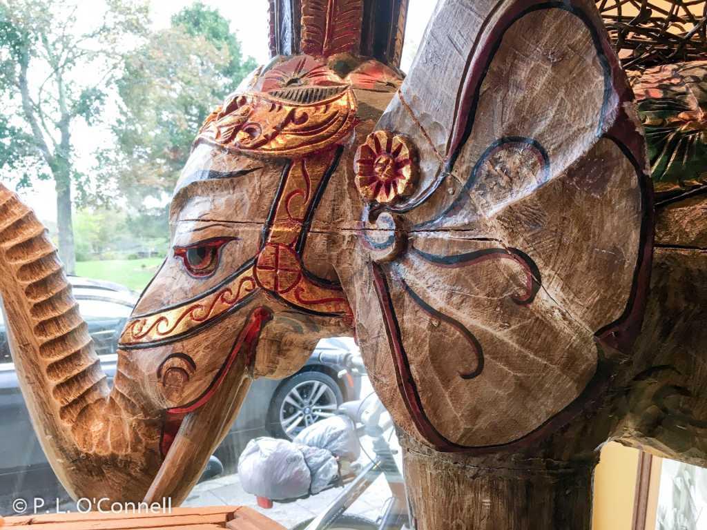 Wooden elephant, Spice & Tea Merchants