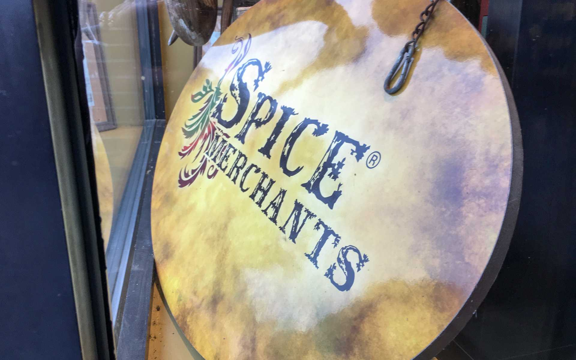 Spice & Tea Merchant Sign