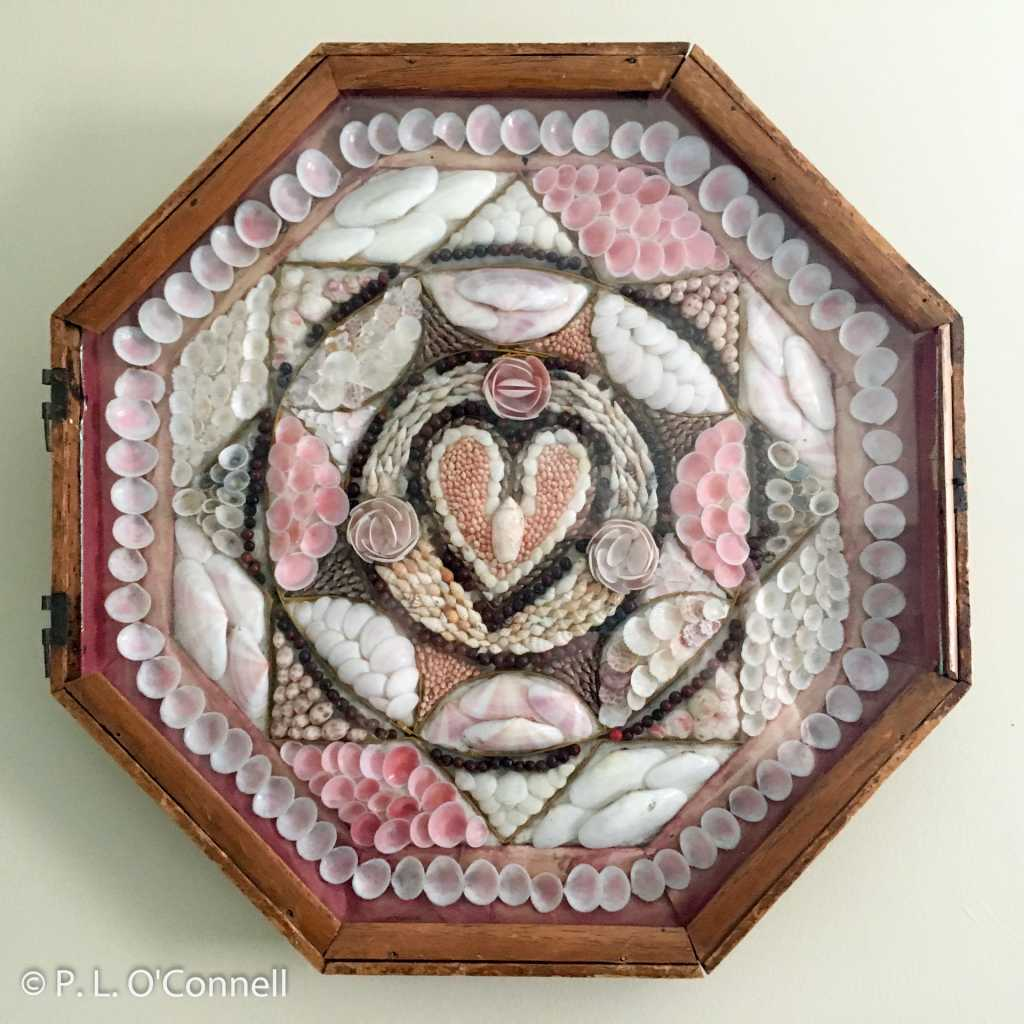 This is a Sailor's Valentine that is on display at the Falmouth Museums on the Green.