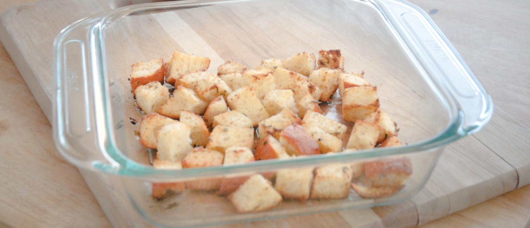 Garlic Butter Croutons Recipe
