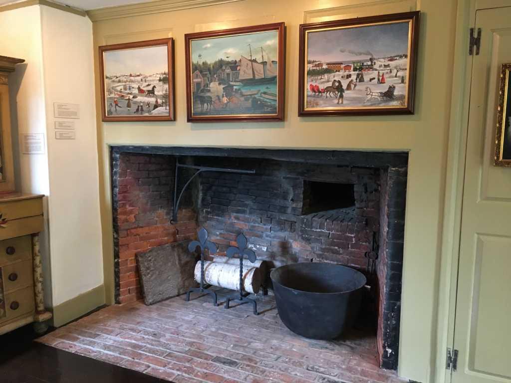 fireplace Cahoon Museum of American Art
