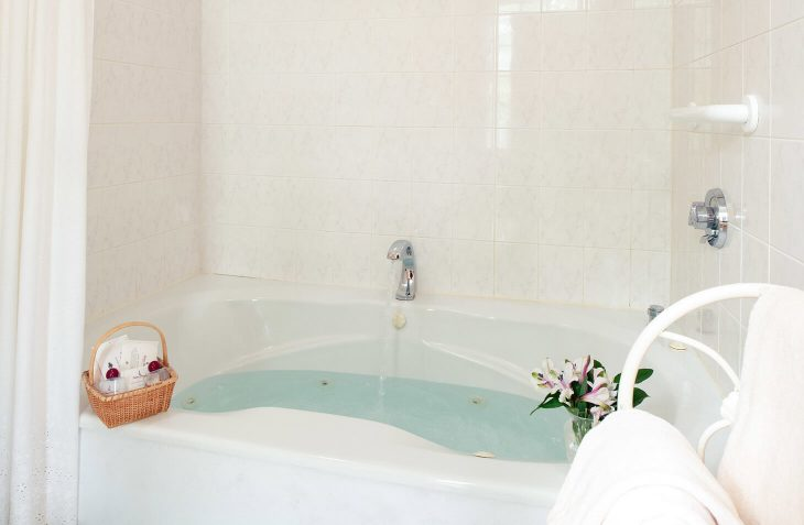 Room 5 - Emily Dickinson Room jetted tub at our Cape Cod B&B