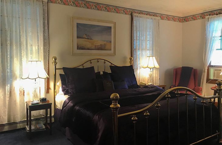 Room A - Harriet Beecher Stowe Room bed at our Cape Cod Boutique Hotel