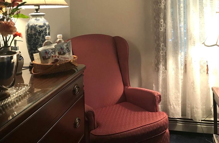 Room A - Harriet Beecher Stowe Room chair at our Cape Cod B&B