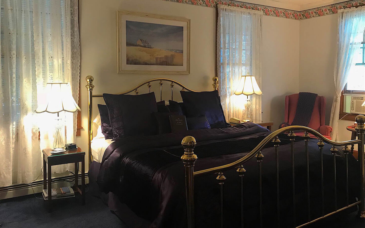 Room A - Harriet Beecher Stowe Room bed at our Falmouth, MA B&B