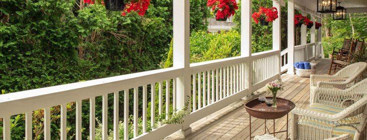 Porch at the Palmer House Inn