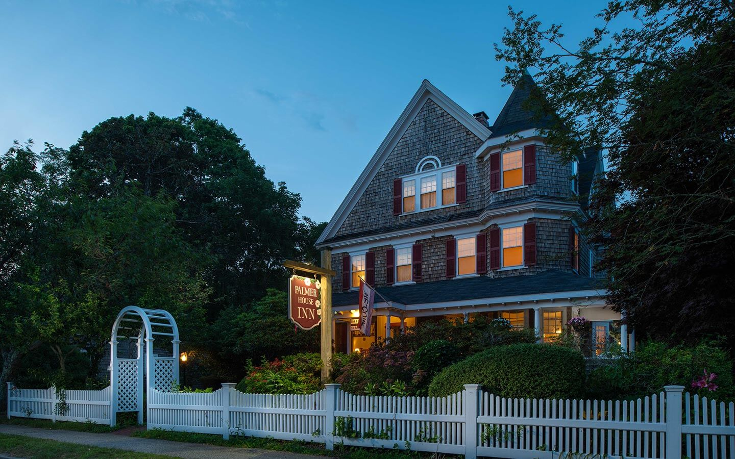 The exterior view of our Cape Cod bed and breakfast