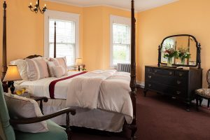 Edith Wharton Room bed at our B&B in Cape Cod