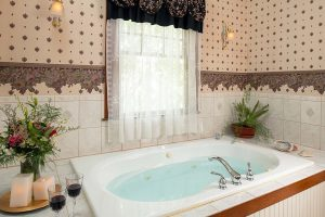 Henry James Penthouse jacuzzi tub at our MA bed and breakfast