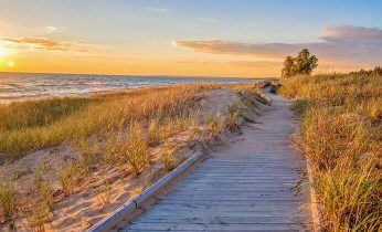Walkway by the beach in Cape Cod