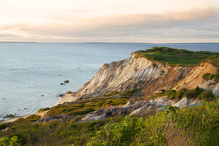 Cliffs on Martha's Vineyard island