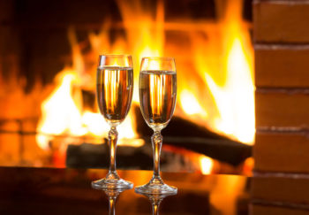 Champagne by the fire