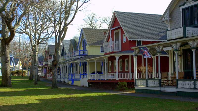 Gingerbread row houses on Martha's Vineyard