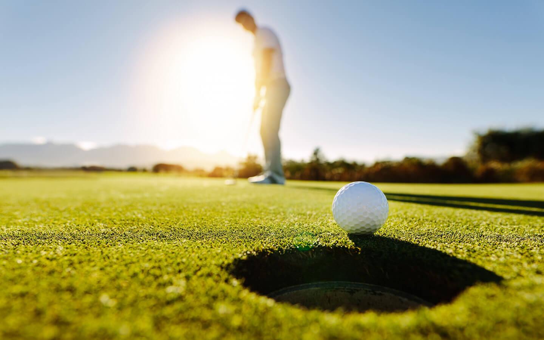 Golfer on a sunny day