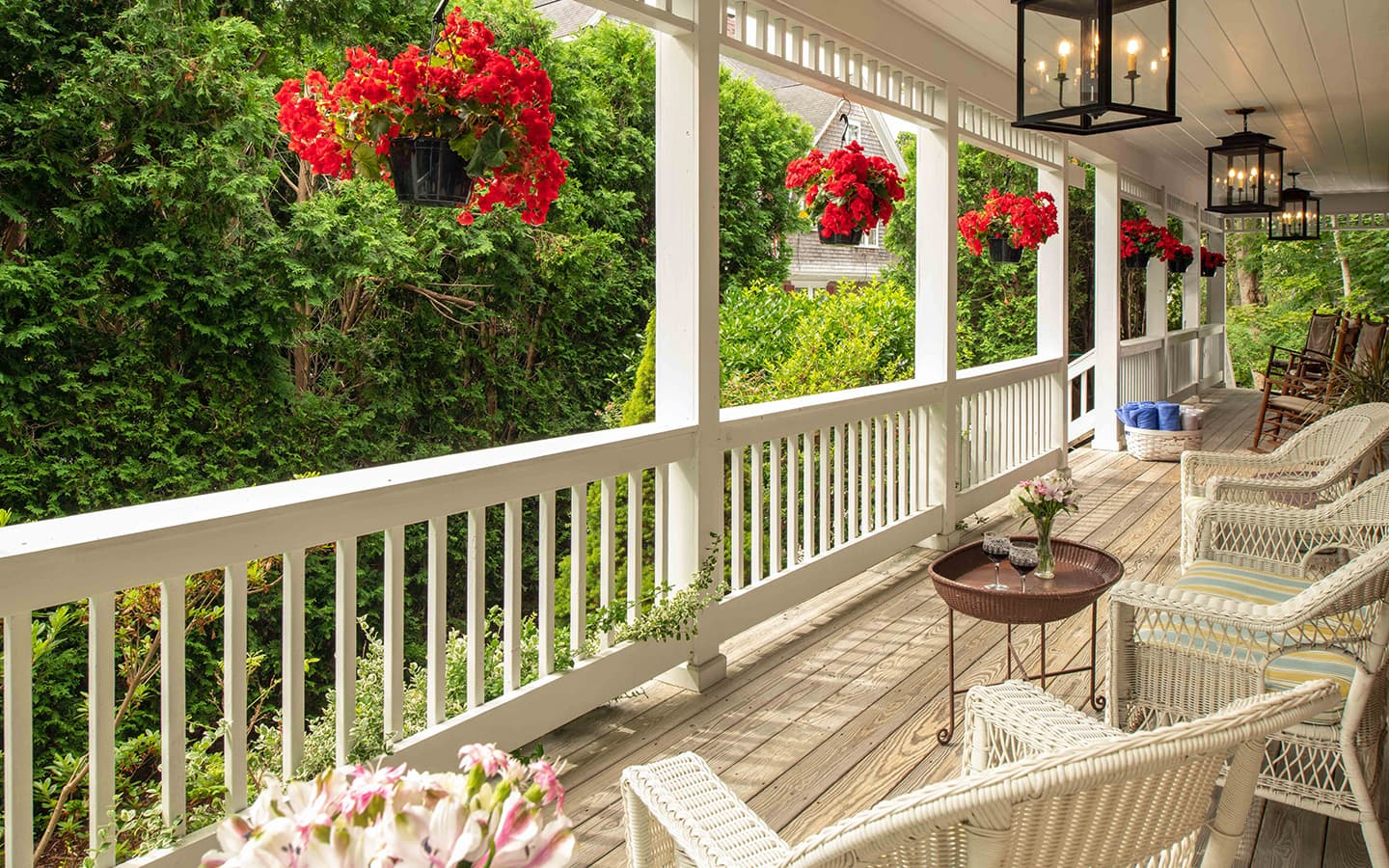 Peaceful porch perfect for proposals