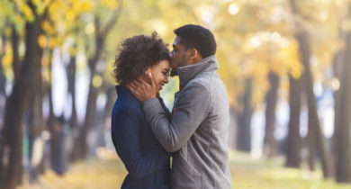 Cape Romance Package - Couple Enjoying Fall Leaves