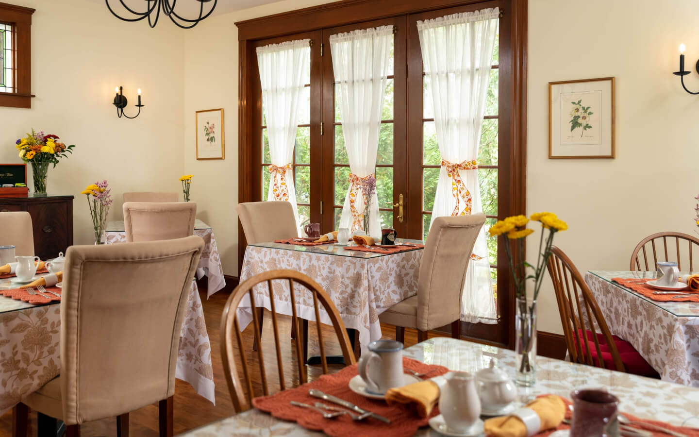 Dining room at Palmer House Inn