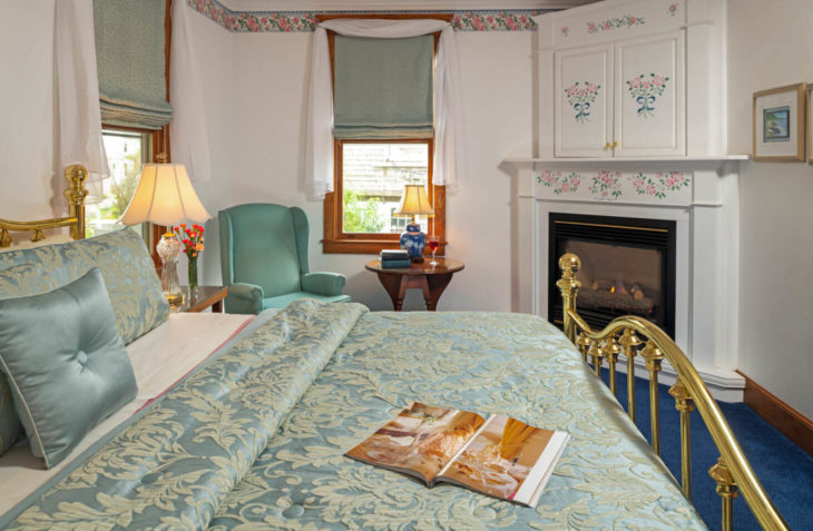 Room A - Harriet Beecher Stowe Room bed at our Falmouth bed and breakfast