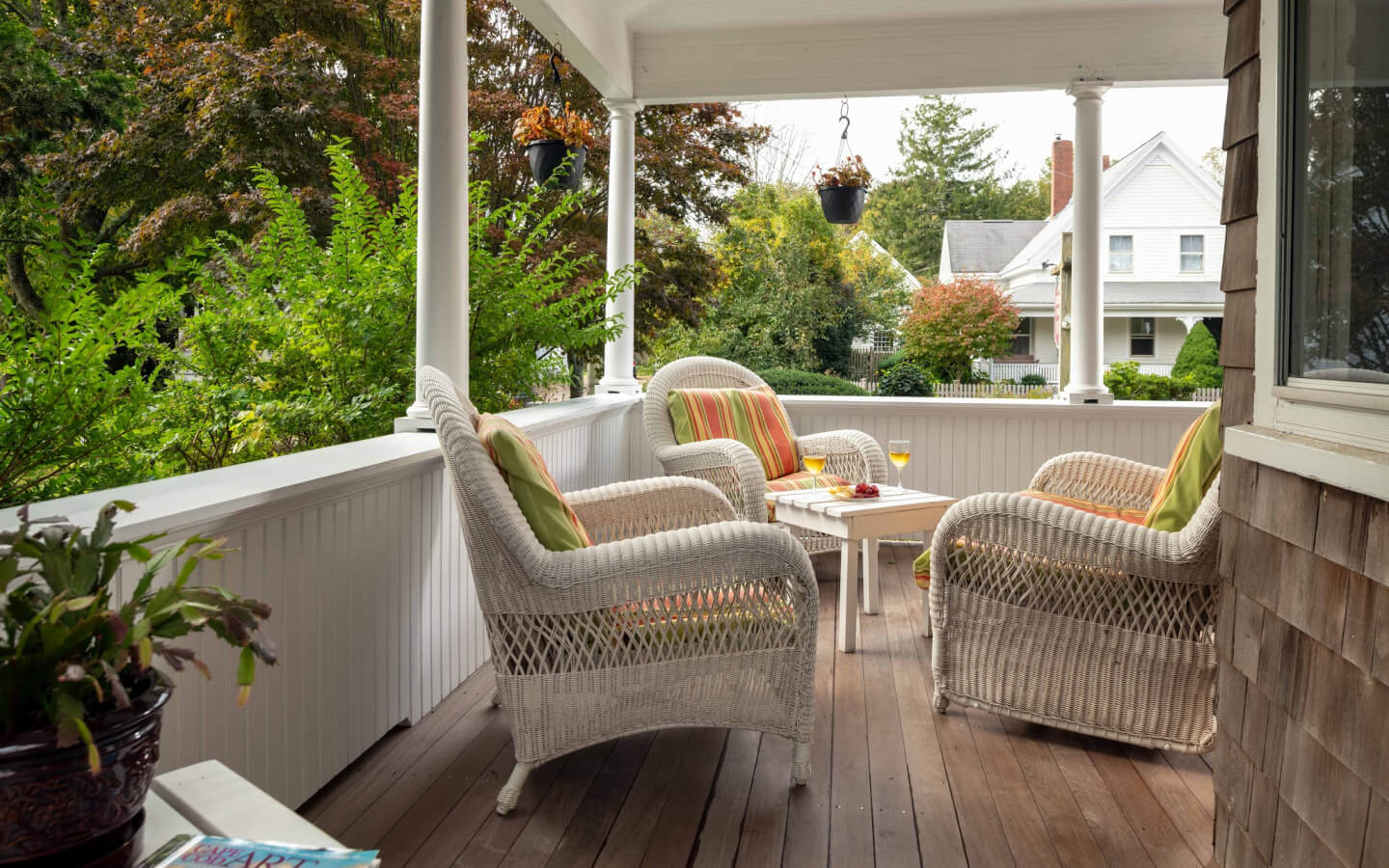 Porch at the Palmer House Inn