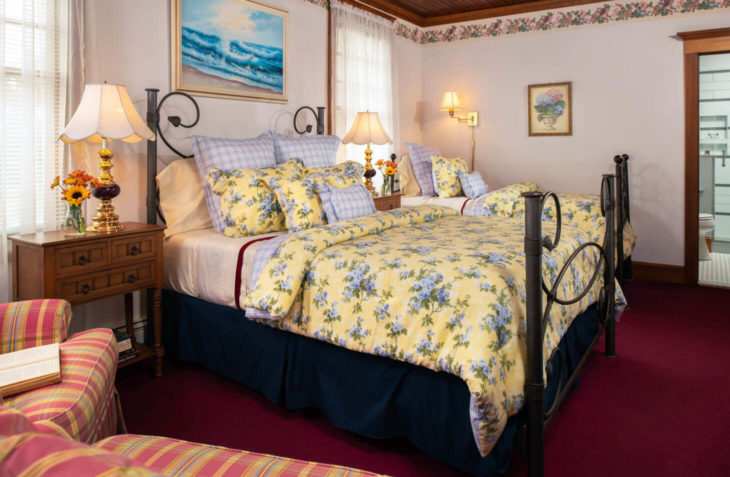 Room C - Samuel Langhorne Clemens Room twin bed at our Cape Cod, MA bed and breakfast