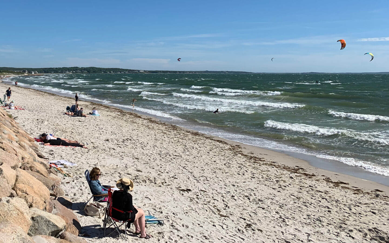 Beach Goers Enjoying the Waves - Bed & Breakfast Near Martha's Vineyard