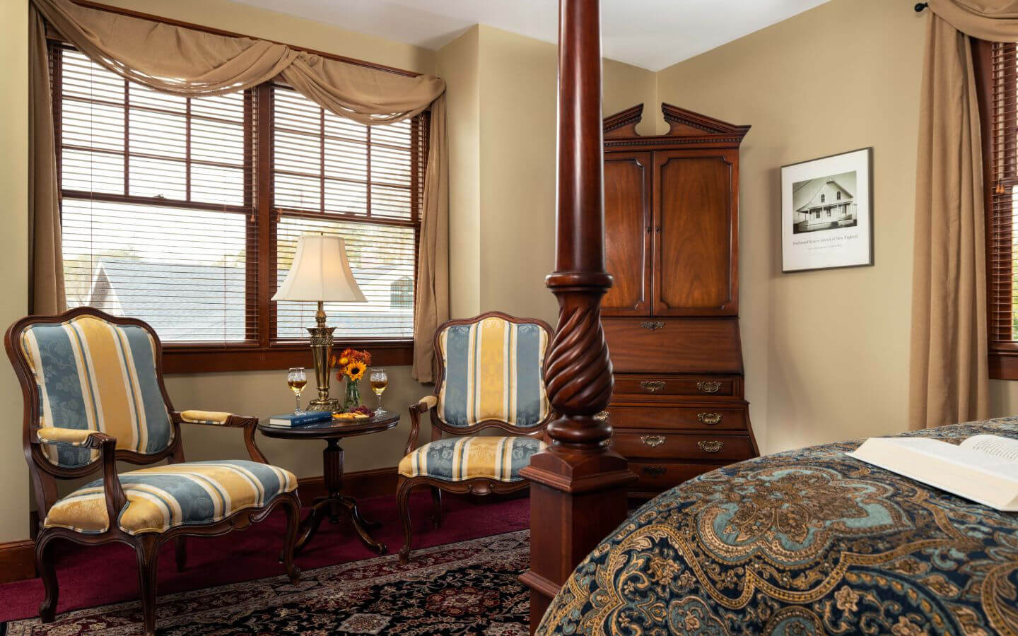 A cozy room at our Falmouth bed and breakfast