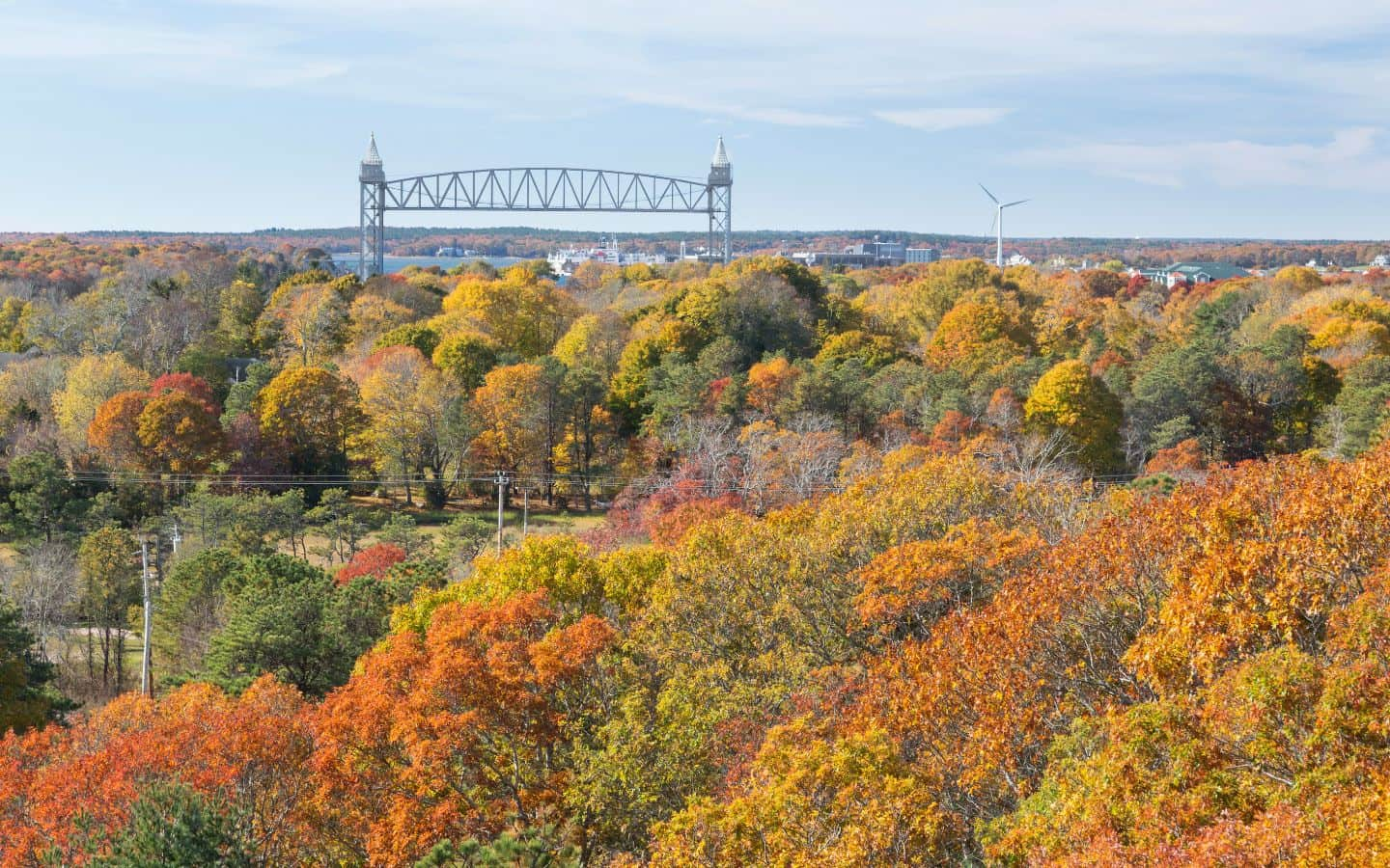 Cape Cod Canal in the Fall near our Cape Cod Inn