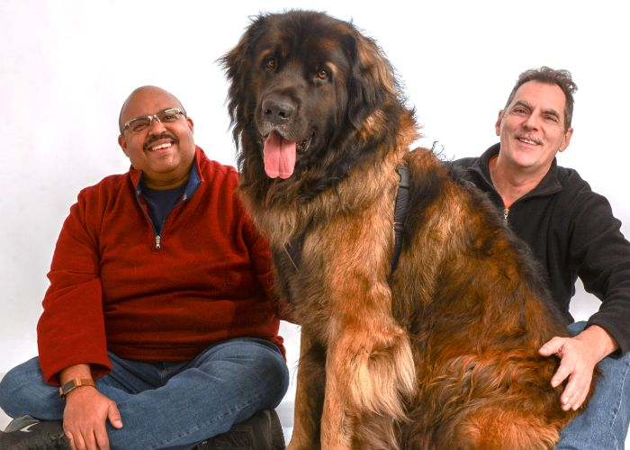 Innkeepers and Dog at Our Falmouth Bed and Breakfast