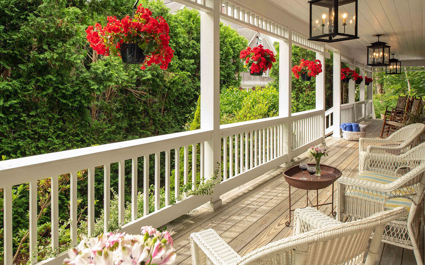 Porch Seating at Our Cape Cod B&B