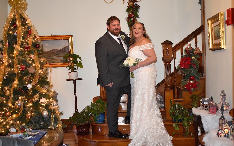 Winter holiday wedding