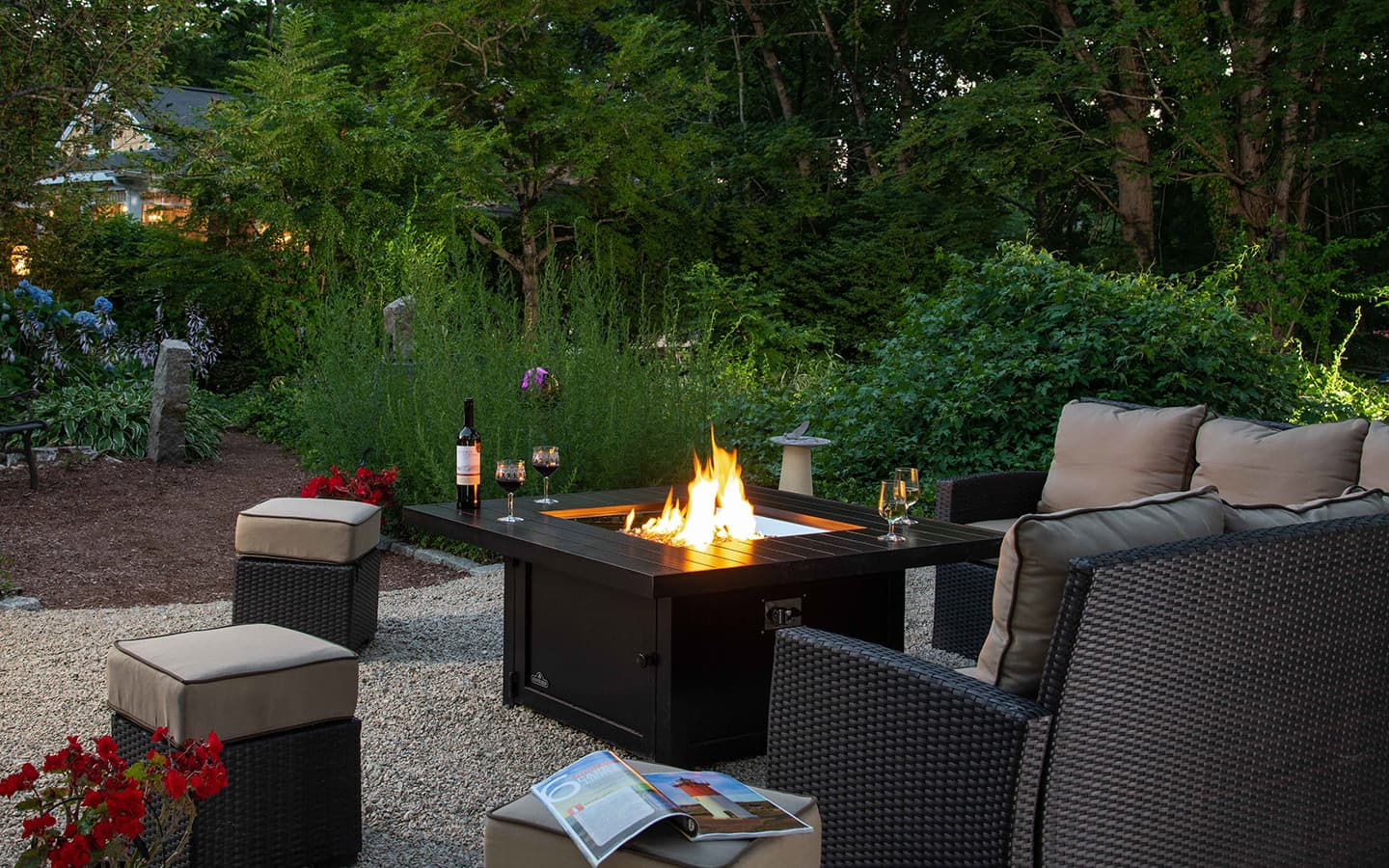 Outdoor Firepit at Our Inn on Cape Cod