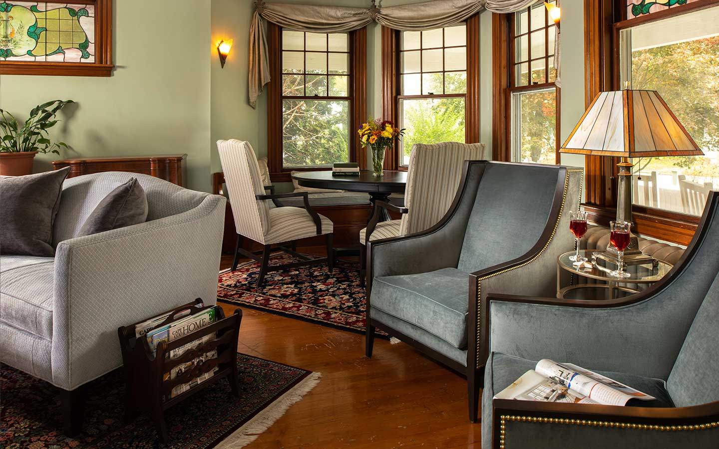 common room seating at our Cape Cod B&B in Falmouth